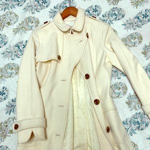 Banana republic cream coat